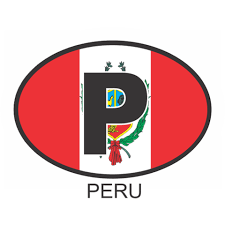 Peru Osc1 Colour Oval Car Decal Flags N Gadgets