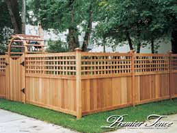 Wood Fencing Wood Fencing With Lattice
