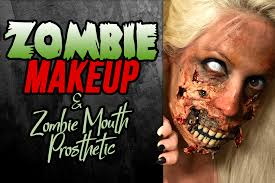 zombie makeup using diy zombie mouth