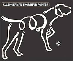 Raining Cats And Dogs German Shorthaired Pointer K Lines Window Tattoo