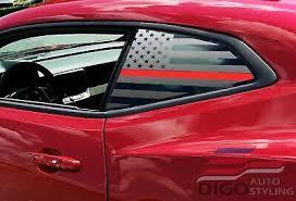 Chevrolet Camaro Distressed American Flag Window Decal 2016 2018 26 99 Picclick