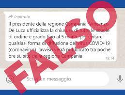 Coronavirus - scuole chiuse in Campania: la Regione smentisce la ...