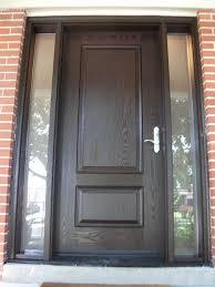 solid fiberglass front door