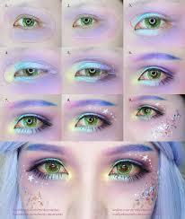 mermaid makeup tutorial by