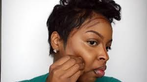contour and highlight on dark skin