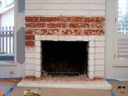 brick fireplace using soygel