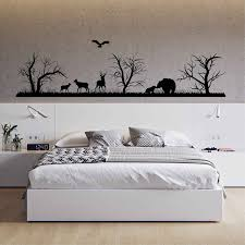 Landscape Vinyl Wall Decal Woodland Wall Decals Forest Silhouette Wall Decals Animals Art Decor Woodland Room For Bedrooms 3118 Wall Stickers Aliexpress