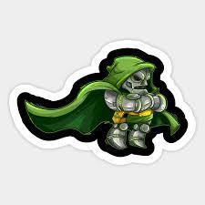 Dr Doom Marvel Sticker Teepublic