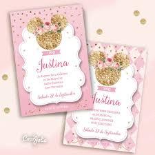 Kit Imprimible Minnie Rosa Y Gold Dorado