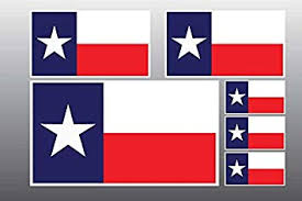 Amazon Com Boldergraphx 1042 Texas Flag 6 Pack 1 Large 2 Medium 3 Small Decal Automotive