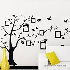Black Photo Frame Tree Birds Wall Decal Home Sticker Paper Removable Living Dinning Room Bedroom Kitchen