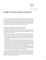 guide to pensation decisions