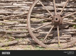 Old Wagon Wheel On Image Photo Free Trial Bigstock