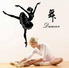 Ballerina Wall Sticker Ballet Dancer Studio Girls Room Dance Decal Bedroom Diy For Sale Online