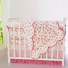 ruffles blossoms crib skirt baby girl