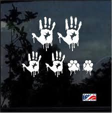 Zombie Hand Print Family Truck Decal Sticker Custom Sticker Shop