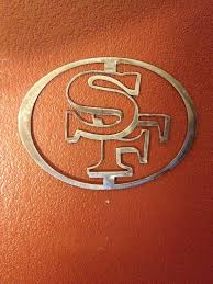 San Francisco 49ers Wall Art Nfl 49ers Metal By Ironblacksheep San Francisco 49ers Nfl 49ers Metal Artwork