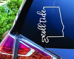 Roll Tide Outline Alabama State Vinyl Decal Sticker Etsy