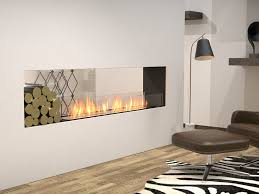 double sided steel fireplace insert