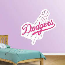 Pink Dodgers Logo Wall Decal Allposters Com