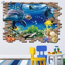 3d Wall Stickers For Kids Room 1 Pc New Sea Whale Fish Removable Decoration Diy Pvc Sticker Wallpaper Decals Wholesale 50d29 Sticker Wall Decal Wall Stickers Bedroomwall Stickers Bathroom Aliexpress