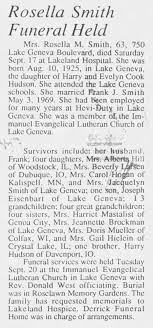 Obituary for ROSELLE (HUDSON) SMITH - Newspapers.com