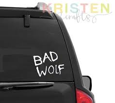 Boze Wolf Doctor Who Whovian Auto Venster Decal Bad Wolf Doctor Who Car Bad Wolf