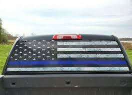 Usa Distressed Flag Thin Blue Line Sticker Vinyl Decal Rear Window Car Truck 5 Car Truck Decals Stickers Nuntiusbrokers Com