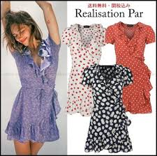 wrap dresses short flower patterns