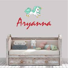 Wall Decal Sticker Multiple Sizes Personalized Girls Name Unicorn Wall Decal Nursery Wall Decal Choose Your