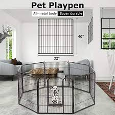 Dog Pen Extra Large Indoor Outdoor Back Or Front Yard Fence Cage Fencing Doggie Rabbit Cats Playpens Outside Fences With