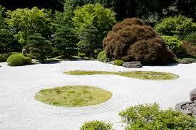 japanese garden zen rock sand stock