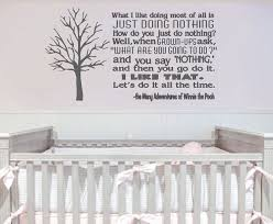 Just Doing Nothing Winnie The Pooh Wall Decal Nursery Wall Decals Custom Wall Decal Custom Wall Decals