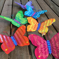 Set Of 6 Metal Butterflies Fence Art Hanging Fence Wall Decor Yard Art Indoor Or Outdoor Fence Butterfly Privacy Fence Patio Metal Art
