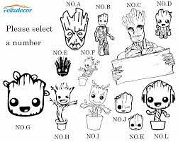 13cm Tall Baby Groot Svg Decal Guardians Galaxy Groot Clipart Car Decals Silhouette Stencil Stickers Car Decor Waterproof L963 Car Stickers Aliexpress