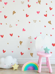 Gold Circle Wall Decals Peel And Stick White Heart Pink Design Australia Quotes Teal Vamosrayos