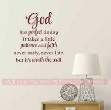 Religious Quote God Has Perfect Timing Christian Wall Art Decal Sticker Decor Ebay