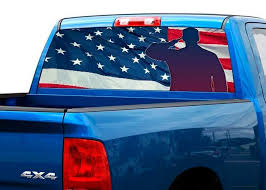 Product Us Army Us Flag Rear Window Decal Sticker Pick Up Truck Suv 2