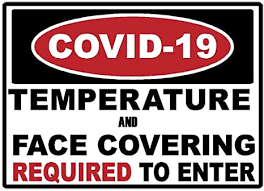 Amazon Com Safety Covid 19 Temperature And Mask Required Warning Decal Sticker Coronavirus Made In Texas Usa 5 X 7 Arts Crafts Sewing