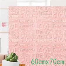Amazon Com Tokyo Summer Small Wall Stickers 3d Wallpaper Cartoon Love Brick Wall Stickers Living Room Decor Foam Wall Covering Wallpaper For Tv Background Kids Room Pink 60cmx70cm Home Kitchen