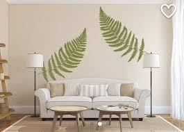 Fern Wall Decal Large Leaf Decals Vinyl Wall Decal Leaves Etsy Removable Vinyl Wall Decals Vinyl Wall Decals Earthy Decor