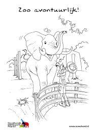 Kleurplaat Olifant In De Zoo Gratis Kleurplaten Om Te Printen