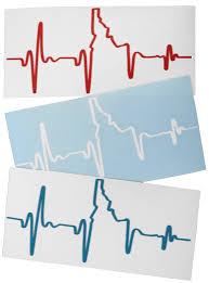 Banana Ink Heartbeat Ekg Idaho Sticker