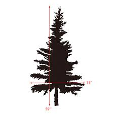 Pine Tree Wall Decal Vinyl Wall Stickers Art Royalwallskins
