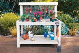how to build a potting bench this old