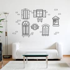 Vintage Window Wall Decal Set Window Wall Stickers Online
