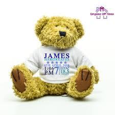 new baby boy personalised teddy bear