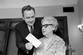 Deputy Attorney General Nathan Heffernan and State Treasurer Dena Smith |  Photograph | Wisconsin Historical Society
