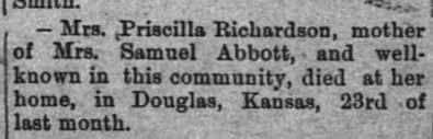 Priscilla Richardson death notice - Newspapers.com