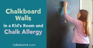 Chalkboard Walls In A Kid S Room And Chalk Allergy A Quiet Simple Life With Sallie Borrink